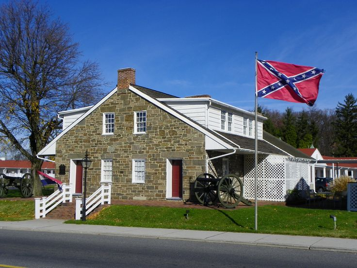(General Lee's Headquarters in Gettysburg, Pennsylvania.) General Robert E. Lee and his staff used this house, located on historic Seminary Ridge, as his personal headquarters July 1, 1863, during the Battle of Gettysburg.