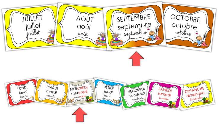 Les étiquettes pour la date en maternelle !