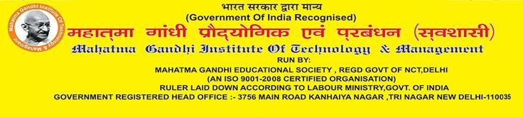 Fill Application Form Mahatma Gandhi Institute of Technology and Management for Study Center & Franchise in India. Submit all detailing for Study Center & Franchise in India its provide many types of courses in iti for your bright future,