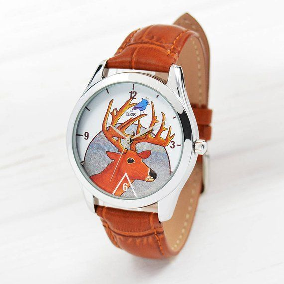 The Deer Watch | Hipster Watch | Women Watches Leather | Men's Watch | Anniversary Gifts Boyfriend |
