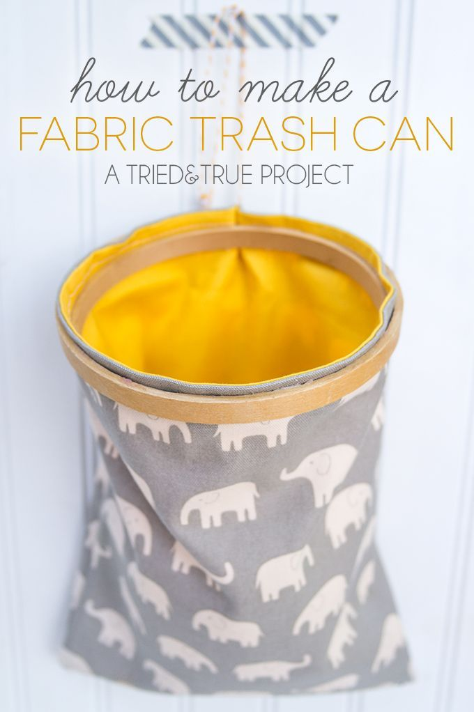 Use this really basic sewing tutorial to make a super conveient Fabric Trash Can! Perfect to take with you on the go!