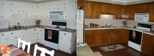 Kitchen Cabinet Update Updating Cabinets Molding Pinterest