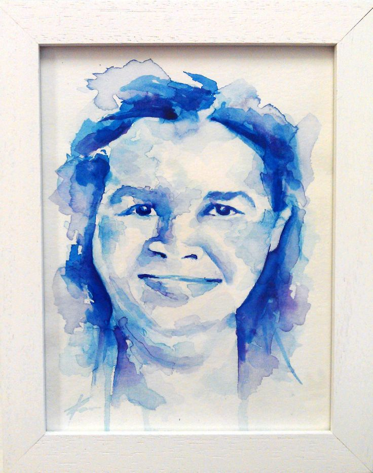 Tamzin's mum, watercolour portrait by Tasneem Kamies for KIN on Kloof's Mother's Day window exhibition  For more info on this exhibit- http://bit.ly/1rBb0yS  kinshop.co.za - growing local art & design