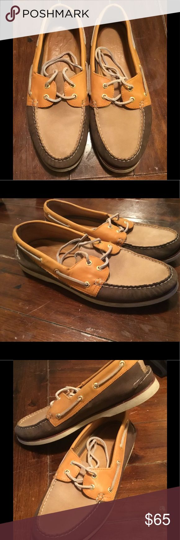 Sperry Gold Cup Double Eye Leather Boat Shoes Sz11 Gold Cup Double Eyed Men's Size 11 Boat shoe. I've only worn these a handful of times. FULL-GRAIN LEATHER Sperry Shoes Boat Shoes