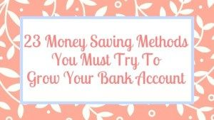 Save Money Each Month With These 23 Simple Ideas – money