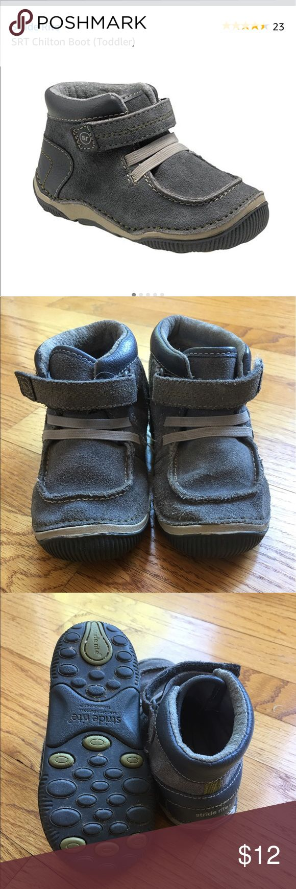 Stride rite Chilton toddler boots 7.5M Stride rite Chilton toddler boots 7.5M. Good used condition. Currently selling on Amazon for $50. Great quality shoe that will last. Stride Rite Shoes Boots
