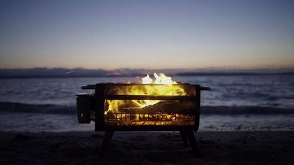 Your next bonfire doesnt have to leave you smelling like smoke thanks to this fire pit