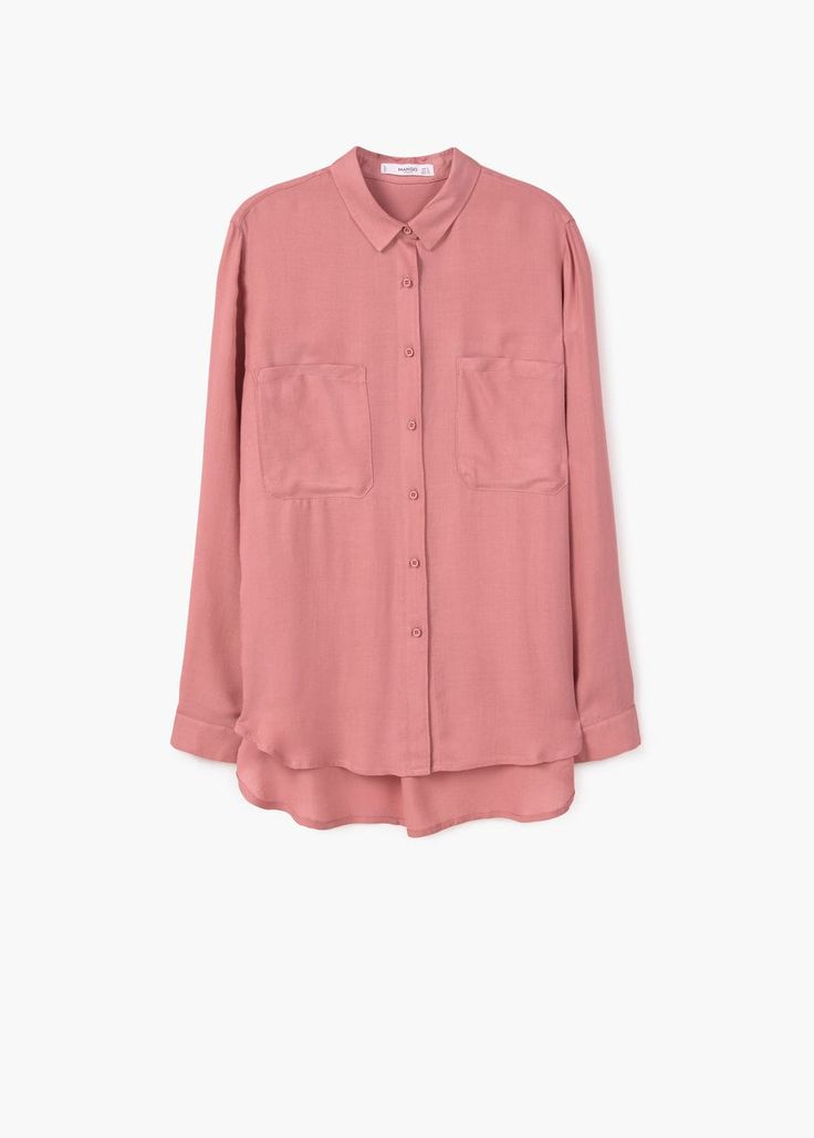 Fließende bluse mit taschen | MANGO