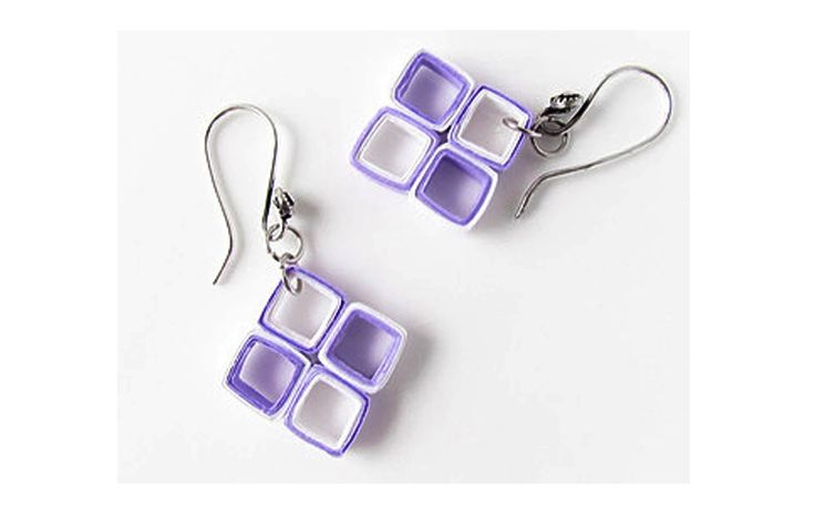 Quilling Earrings More Designs : quilling paper earrings designs making Latest earrings Making at home Jewelry-Quilled & Just ...