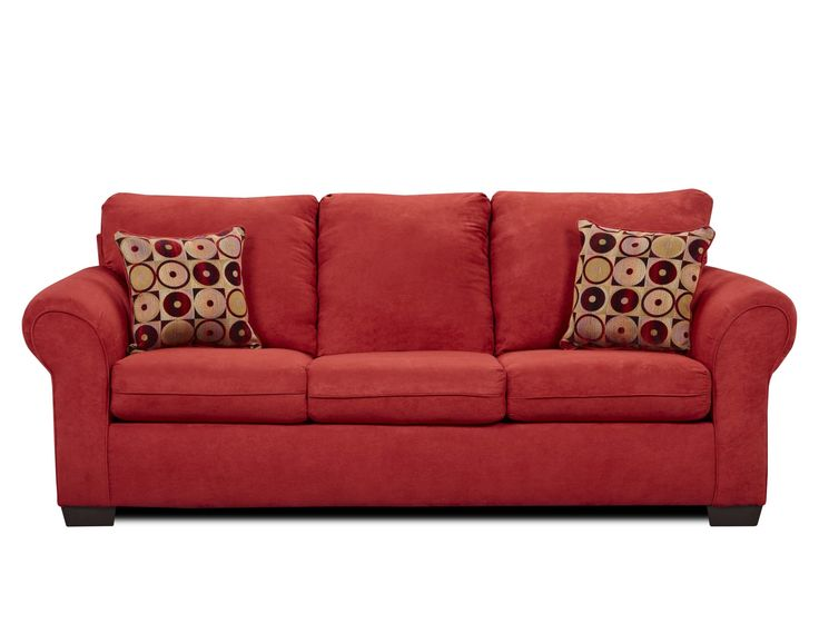Fabric Red Sofa Sets Attached Back Si 1640red 1640