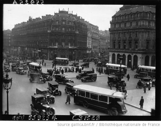 Vue de Paris, Place de l'Opéra : [photographie de presse] / Agence Meurisse - 1928