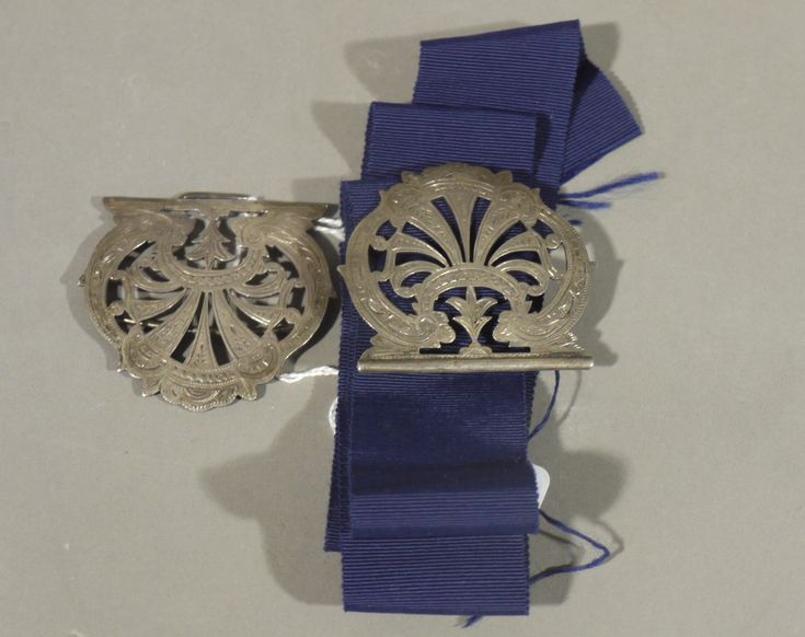 A silver belt buckle Birmingham 1899