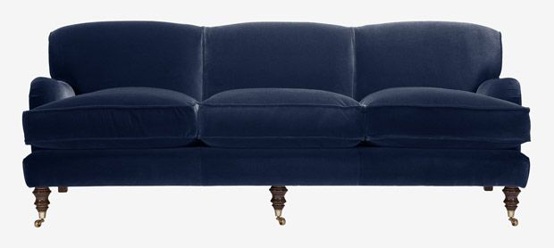 Lady May 4 seater sofa with fixed covers in Dusky Velvet atlantis