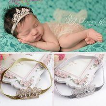 Linda princesa coroa Tiara Headband Elastic faixa de cabelo Headband menina, Recém-nascido criança foto Prop acessórios de cabelo(China (Mainland))