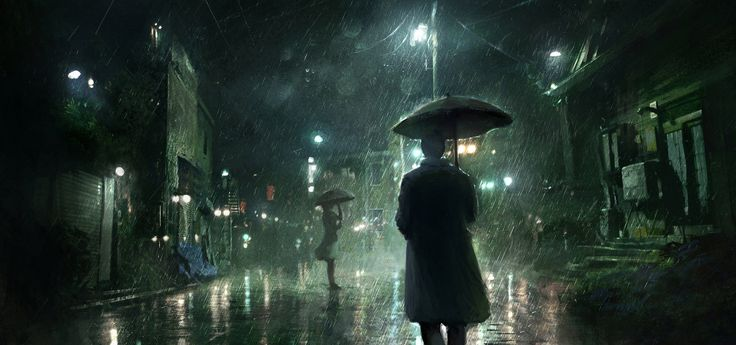 ArtStation - Rainy Night, Jonas De Ro