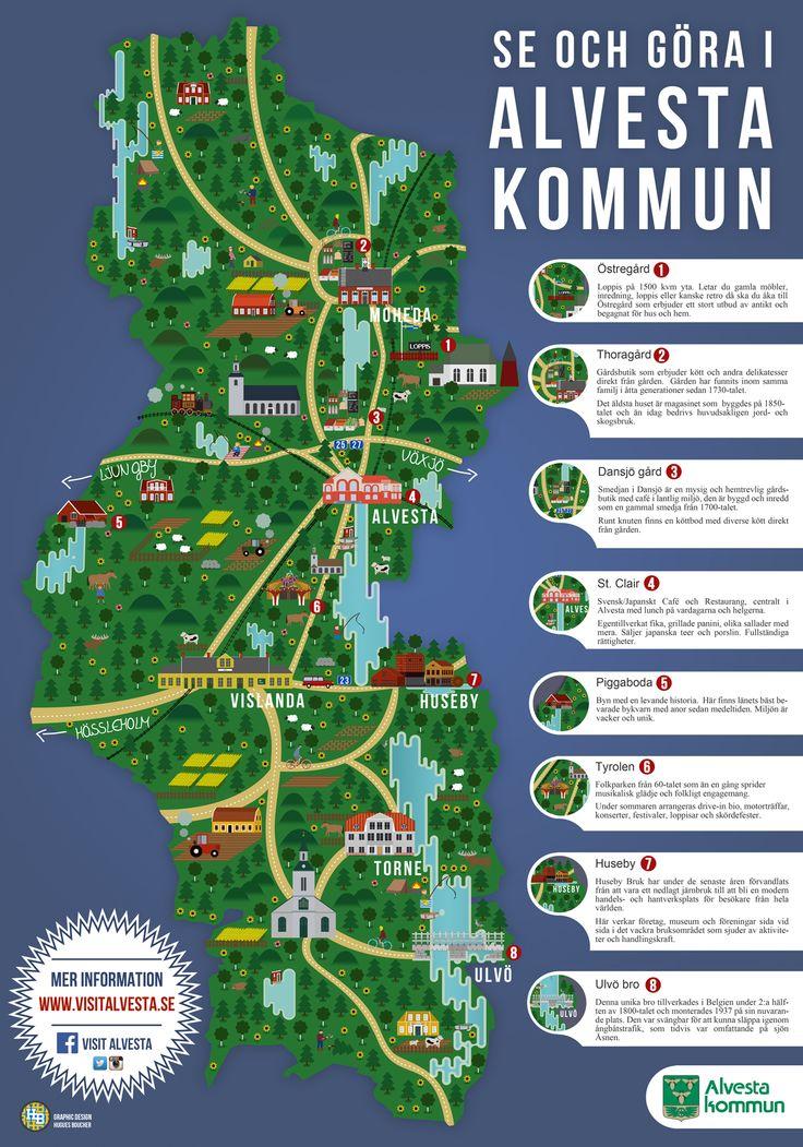 Map design for Alvesta Kommun (Småland) - Hugues Boucher (2015)