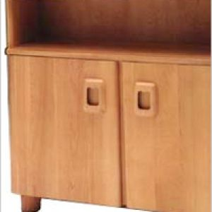 made by the South Beach Furniture Company.  M326: Cabinet Bookcase  $895.00  The Heywood-Wakefield M 326 Cabinet Bookcase is one of our most atractive pieces. Made from solid birch wood, it features one adjustable shelf inside and an open shelf on top.     Dimensions:  Top measures 36″ Wide x 11″ Deep. Height is 32.5″.  Shipping Weight: 82 lbs.