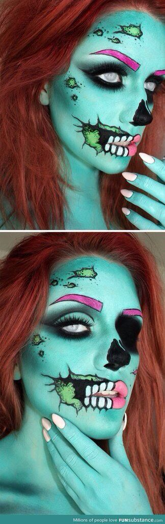 Costume makeup-Zombie Halloween make up