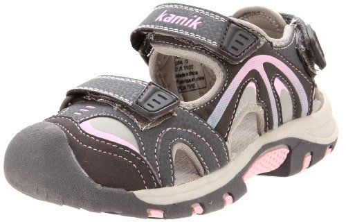 Kamik Waterway Sandal (Toddler/Little Kid/Big Kid) Kamik. $29.31. Abrasion-resistant toe guard. Waterproof. Rubber sole. synthetic. Closed-toe protection. Cushioned EVA footbed