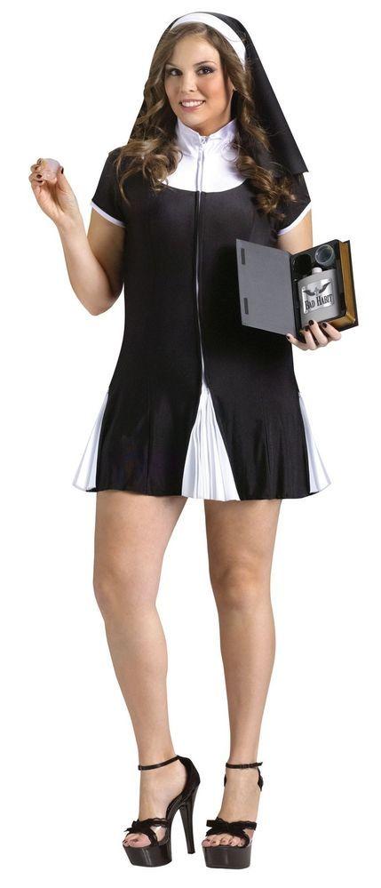 Details About Nun Costume Plus Size Habit Holy Adult -3573