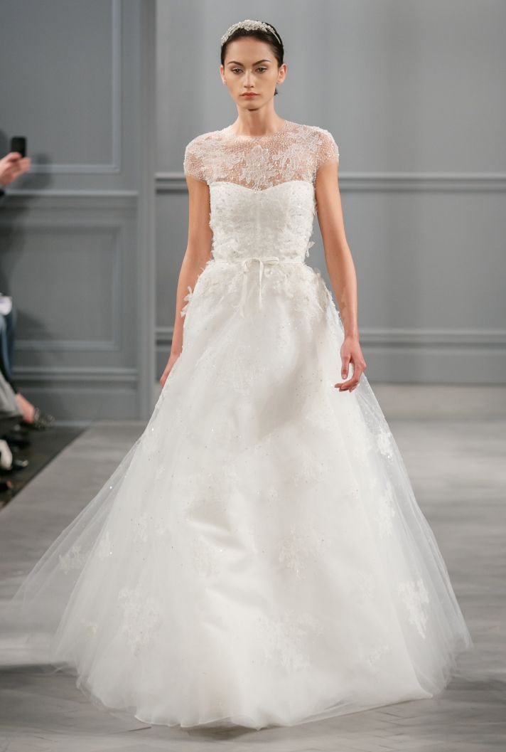 Today Im Going To Share Stunning Illusion Neckline Wedding Dresses And Do You Know Whats So Awesome About Them An Gown Shows