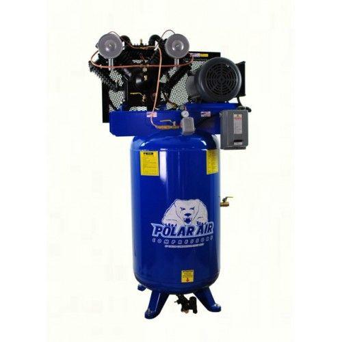 7.5 HP V4 Single Phase 80 Gallon Vertical Air Compressor
