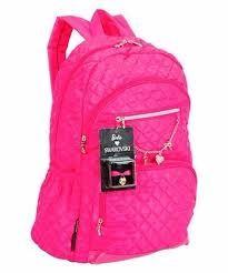 Resultado de imagem para mochila rosa chocki barbie de costas com pompom