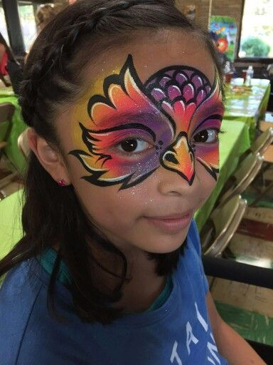 Allison Halver Owl Face Painting design