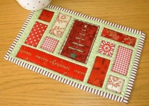Ticker Tape Mug Rug - Quilt as You Go! http://quilting.myfavoritecraft.org/quilted-mug-rugs-patterns/