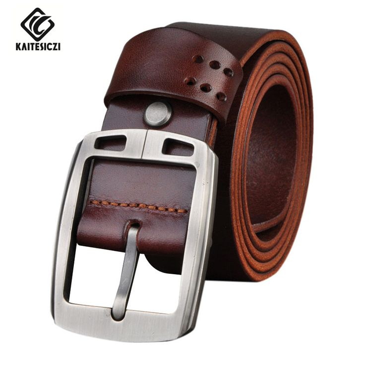 [KAITESICZI] brand Belt Men's Leather Belt Men's 100% pure high quality leather fashion casual jeans waistband belt