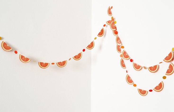 #garland #orange #tangerine #fruit #party #decoration #verapaperlab #etsy - pinned by pin4etsy.com