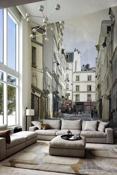 Living Room | Unbelievable mural, this is one of the most amazing things I've ever seen