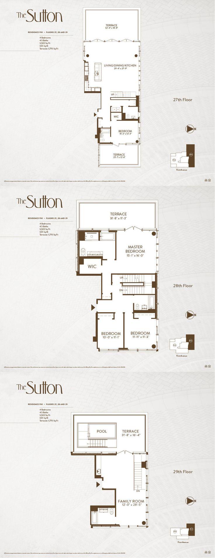 130 best triplex images on pinterest apartments new for Triplex blueprints