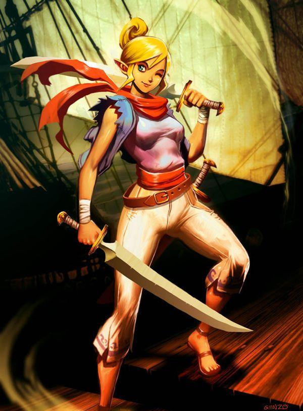 The Legend of Zelda - Tetra by GENZOMAN in The Legend of Zelda Fan Art