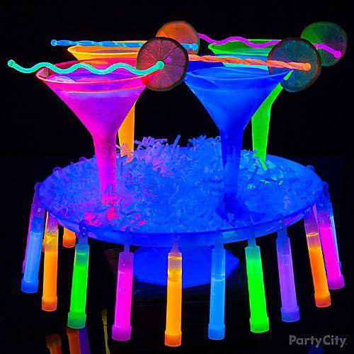 Serve Glow-Tini glow-in-the-dark martinis!