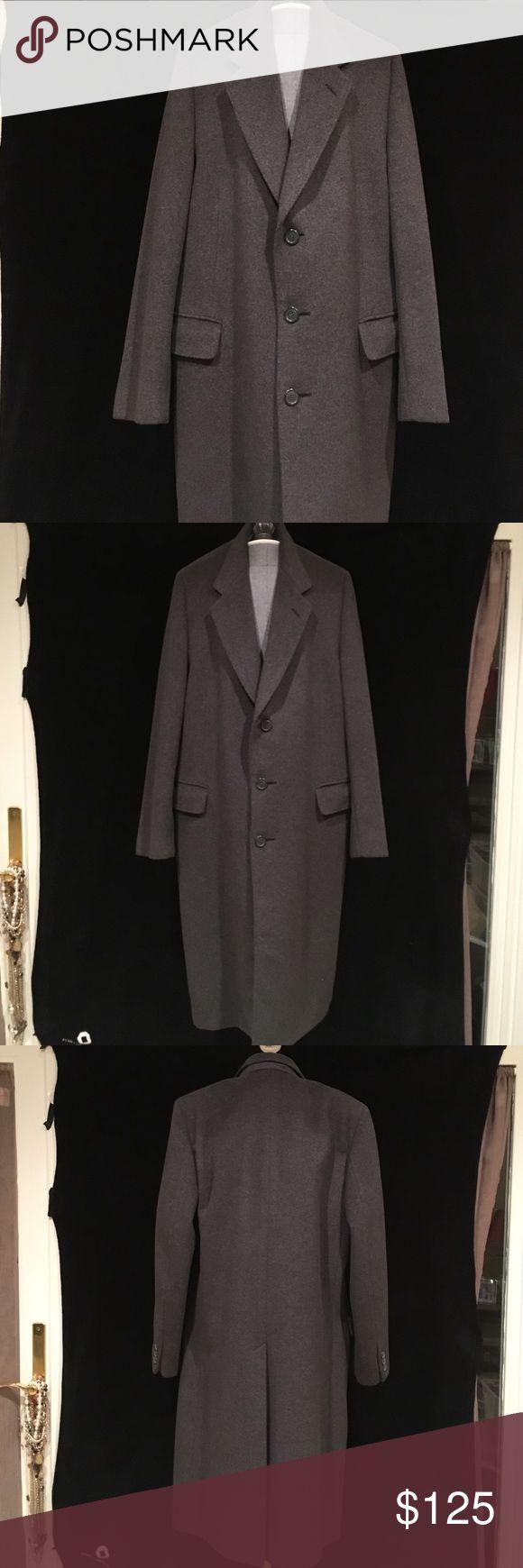 "NWOT! Ciatti Men's Long Overcoat in Sz 42 Regular. NWOT! Ciatti Men's Long Overcoat in Sz 42 Regular. Measures 45"" Long with 2 Front Pockets & 1 Breast Pocket. Wool Cashmere Blend. Silk Lining. Ciatti Jackets & Coats"