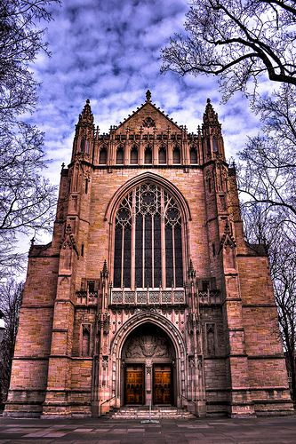 """The Princeton University Chapel is so beautiful. My husband got to sing """"The Lord's Prayer"""" at a wedding here."""