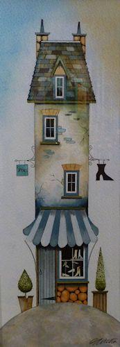 The Shoe Shop (Original) by Gary Walton, Art Print