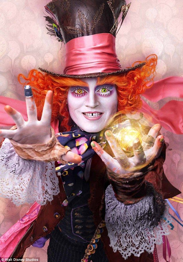 Tarrant Hightopp aka the Mad Hatter:The entire original cast, including three-time Oscar nominee Johnny Depp, returned for more whimsical, psychedelic adventures
