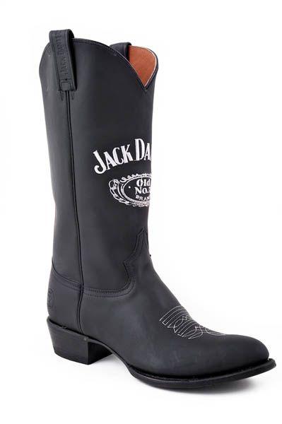 Jack Daniel's boots black :: Silverado Indian Western Store - Sendra Boots Online