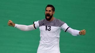 ILS SONT EN FINALE ... Le handballeur français Nikola Karabatic