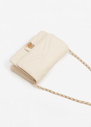 Простёганная сумка на длинной ручке - Сумки - Женская | MANGO МАНГО Россия (Российская Федерация)