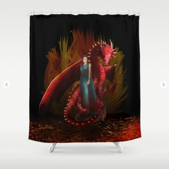 Queen Of The Dragon Shower Curtain Doctor Who The Doctor Who