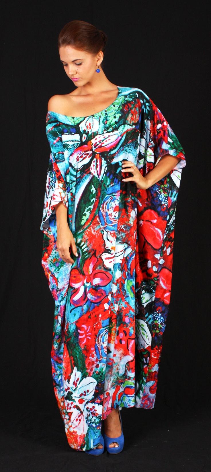 'Floral Spring' kaftan $189   One size fits all  www.tangella.com.au