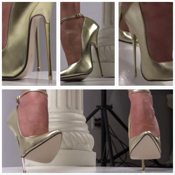 Gold metal stiletto heels EU44