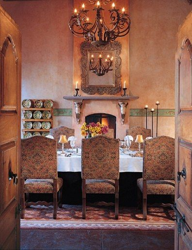 591 best beautiful dining rooms images on pinterest for Mexican dining room ideas