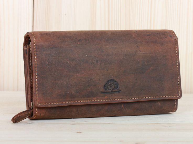 Portemonnaies - Damen Geldbörse Leder Portemonnaie in braun - ein Designerstück von Vintage-Ledertaschen bei DaWanda