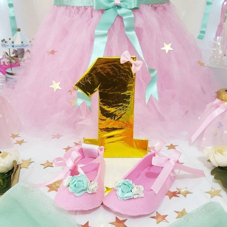 1 yaş partisi keçeden ayakkabı  tutu party