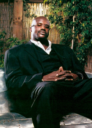 Shaquille 'Shaq' O'Neal (NBA Basketball) wearing Gold & Wood, model S37-6-CB13