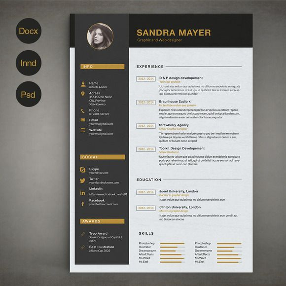 Resume Template B by @Graphicsauthor